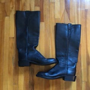 Lucchese tall black boots